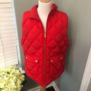 J. Crew XL Red Puffer Vest